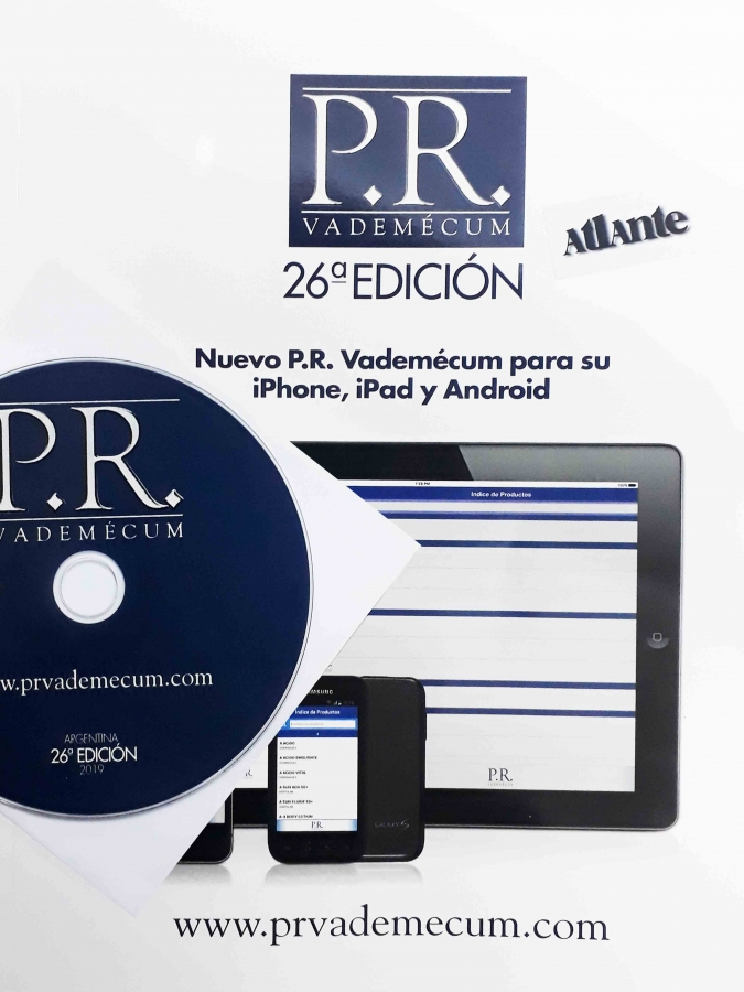 VADEMECUM PR DE PRODUCTOS FARMACEUTICOS + CD 2019